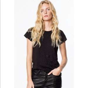 {zadig & voltaire} skinny strass star tee